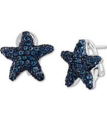 effy london blue topaz starfish stud earrings (2-3/8 ct. t.w.) in sterling silver