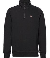 oakport quarter zip sweat-shirt tröja svart dickies