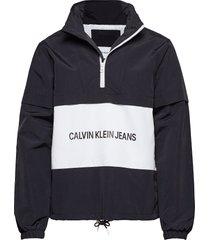 institutional logo p outerwear jackets anoraks zwart calvin klein jeans