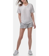 marc new york performance women's short sleeve varsity t-shirt