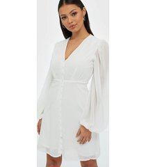 missguided milkmaid button down dress klänningar