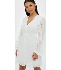 missguided milkmaid button down dress klänningar