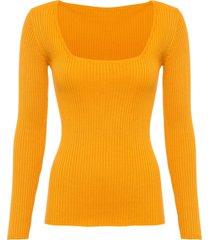 maglione con scollo quadrato (arancione) - bodyflirt