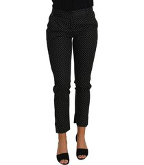 dress polka dot cropped straight pants