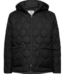 vaala quilt hoodie doorgestikte jas zwart r-collection