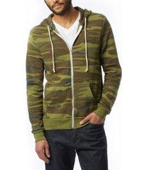 alternative apparel men's rocky printed zip hoodie