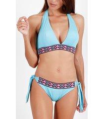 bikini admas 2-delig driehoekig bikinisetje geborduurd strand