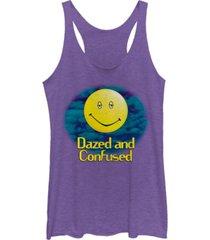 fifth sun dazed and confused smiley haze logo tri-blend racer back tank