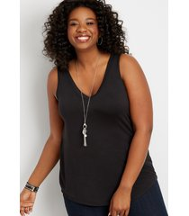 maurices plus size womens 24/7 solid v-neck tank