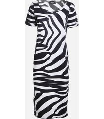 dsquared2 cotton midi dress with zebra print