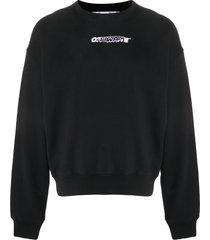 off-white hand painters printed sweatshirt - black