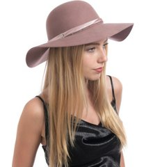 vince camuto satin and chain band floppy hat