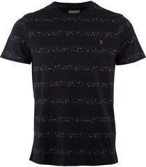 farah true navy wilpshire triangle stripe t-shirt f4ks9065-412