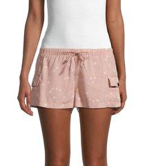 vintage havana women's star-print cargo shorts - washed mauve - size m