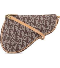 christian dior pre-owned trotter saddle shoulder bag - brown