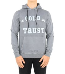 igwt hoodie washed fade black grijs