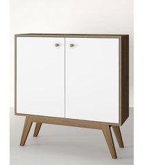 aparador buffet/bar citrus branco estilare móveis