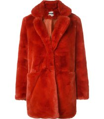 apparis sophie mid-length coat - red
