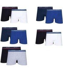 cuecas boxer lupo kit com 10 cuecas algodão