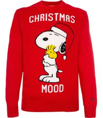 mc2 saint barth man red sweater christmas snoopy - peanuts special edition