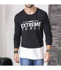 camibuzo extreme negro-bco para hombre croydon