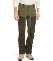 men's fjallraven keb trekking pants, size 42 us/ 60 eu - green