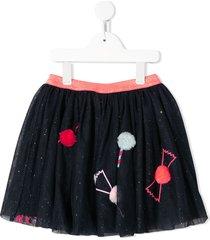 billieblush pom-pom petticoat skirt - blue