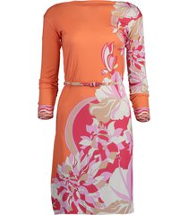 vahne print boatneck dress