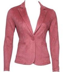 20 to k25-1 067 blazer suedine rosa rood