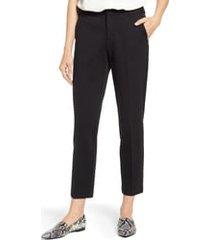 women's vince camuto slim leg tech ponte ankle pants, size 16 - black