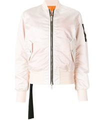 unravel project basic bomber jacket - pink