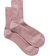 ribbed cashmere and silk-blend socks