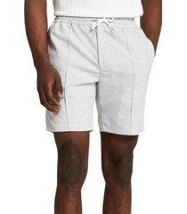men's river island woven check shorts, size 28 - grey