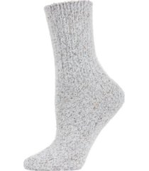 pretty glitter plush women's crew socks