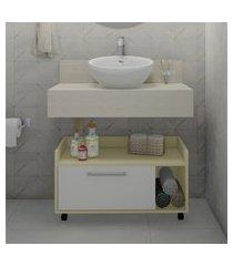 balcão banheiro 75cm criando mobilia gb15 gabinete baixo 1 porta