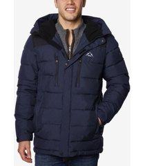 halifax men's quilted hooded ski jacket