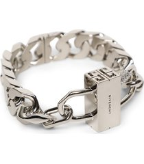 g chain lock small bracelet silver