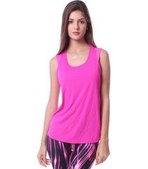 blusa simony lingerie regata maior new trip  rosa - rosa - feminino - dafiti