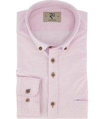 overhemd r2 amsterdam roze borstzak