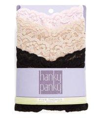 women's hanky panky original rise thong, size one size - beige