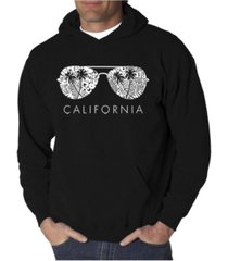la pop art men's california shades word art hooded sweatshirt