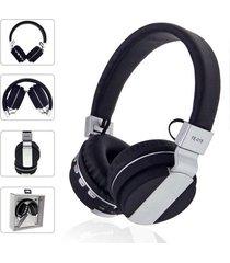 audífonos bluetooth, fe-018 plegables auricular - negro