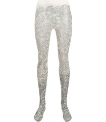 10 corso como ethnic-print tights - neutrals