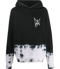 mjb marc jacques burton silk screen printed hoodie - black