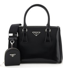 prada brushed galleria mini bag with pouch