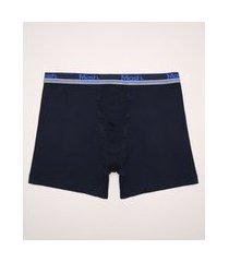 cueca masculina plus size mash boxer longa azul marinho