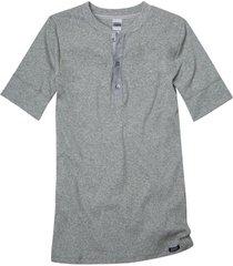 shirt met korte mouw van bio-katoen met knoopsluiting, grijs-gemêleerd xl