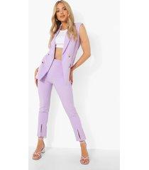 getailleerde broek met split, lilac