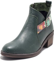 botin verde con flores king pieces gipsy