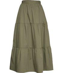 yasbasil hw ankle skirt - icons s. knälång kjol grön yas